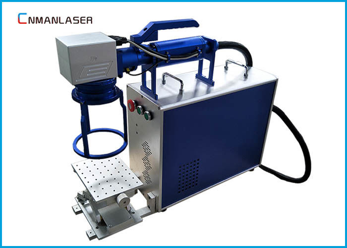 Label Sheets Metal Handhold 20w Fiber Laser Marking Machine With Free Sample Marking